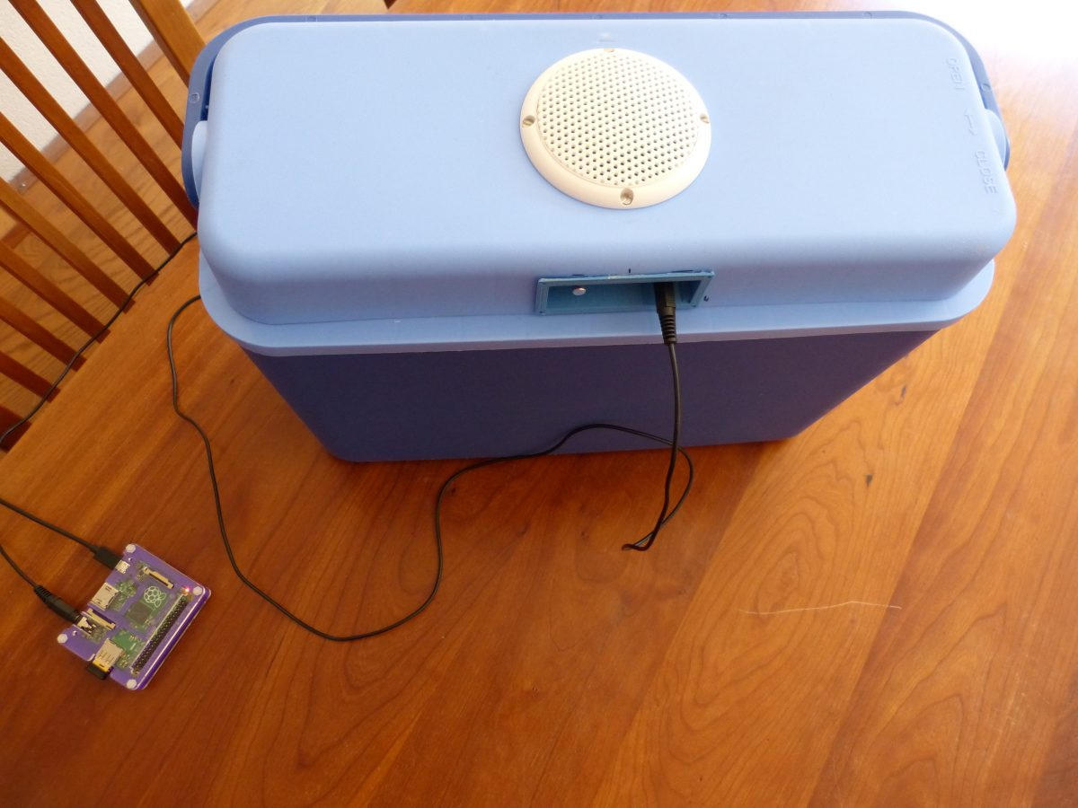 Adding radio streams to the cooler with a Raspberry Pi